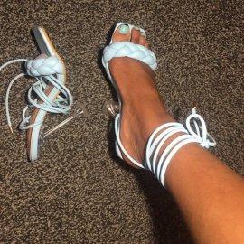 Square Toe Woven High-heeled Sandals Nihaostyles Wholesale Clothing Vendor NSYBJ71224