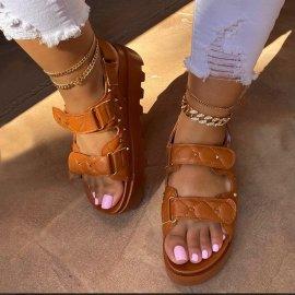 Rivet Velcro Thick Sandals Nihaostyles Wholesale Clothing Vendor NSYBJ71227
