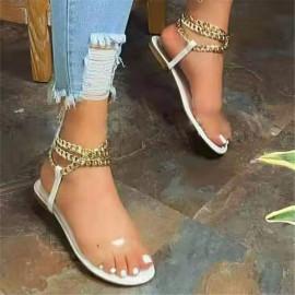 Round Head Metal Chain Sandals Nihaostyles Wholesale Clothing Vendor NSYBJ71240
