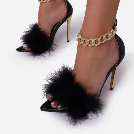 Pointed Toe High Heeled Sandals Nihaostyles Wholesale Clothing Vendor NSYBJ71241