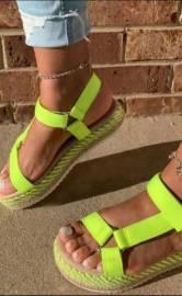 Velcro Flat Beach Sandals Nihaostyles Wholesale Clothing Vendor NSYBJ71244