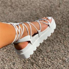 Pure Color Thick Bottom Sandals Nihaostyles Wholesale Clothing Vendor NSYBJ71246
