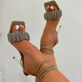 Imitation Leather Rubber Heeled Sandals Nihaostyles Wholesale Clothing Vendor NSYBJ71252