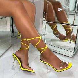 Hollow Film Ankle Strap High Heel Sandals Nihaostyles Wholesale Clothing Vendor NSYBJ71267