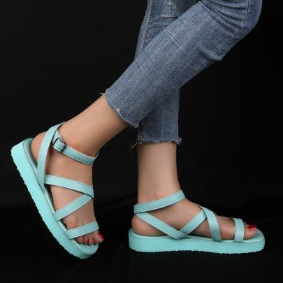 Casual Thick-soled Buckle Sandals Nihaostyles Wholesale Clothing Vendor NSYBJ71269