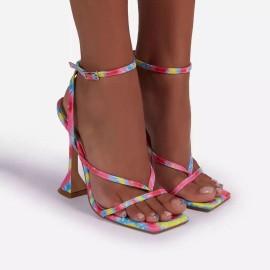 Square Toe High-heeled Sandals Nihaostyles Wholesale Clothing Vendor NSYBJ71273