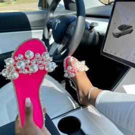 Pearl Fashion Flat Sandals Nihaostyles Wholesale Clothing Vendor NSYBJ71292