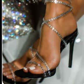 High-heeled Square Toe Rhinestone Strap Stiletto Nihaostyles Wholesale Clothing Vendor NSYBJ71295