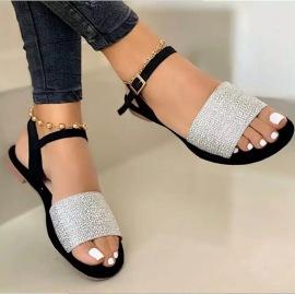 Women's Casual Flat-bottom Buckle Belt Sandal Nihaostyles Clothing Wholesale NSCRX71297