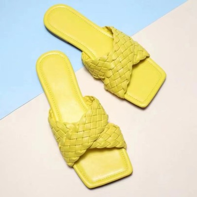Women's Weaving Flat-bottomed Slippers Nihaostyles Clothing Wholesale NSCRX71303