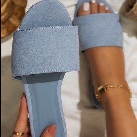 Female Summer New Solid Color Flat Slippers Nihaostyles Clothing Wholesale NSCRX71305