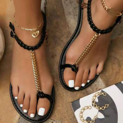 Women's Chain Sandals Nihaostyles Clothing Wholesale NSCRX71306