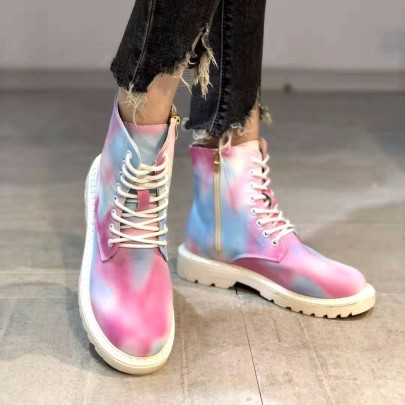 Lace-up Colorful Martin Boots Nihaostyles Wholesale Clothing Vendor NSCRX71310