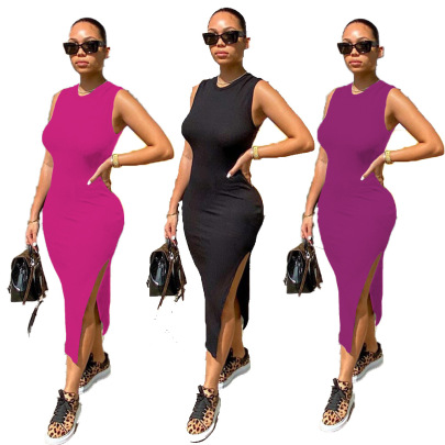 Sexy Unilateral Open Dress Nihaostyles Wholesale Clothing Vendor NSJCF71341