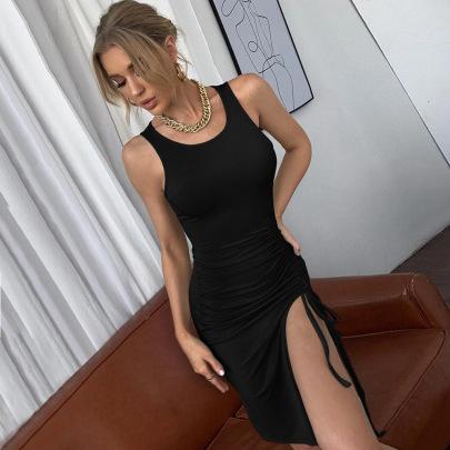 Green Slim Knit Dress Wholesale Nihaostyles Clothing Vendor NSYSQ71421