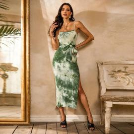 Tie-dye Belt Suspender Dress Wholesale Women Clothing Nihaostyles NSYSQ71436