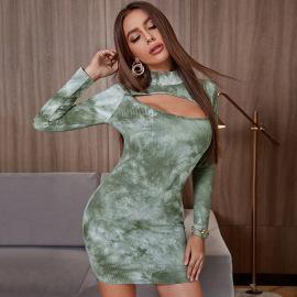 Tie Dye Cotton Dress Wholesale Women Clothing Nihaostyles NSYSQ71463