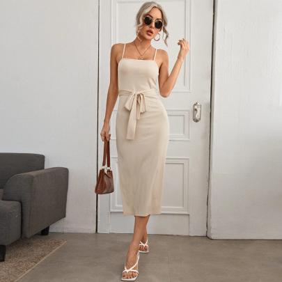 Sexy Split Lace Knitted Sling Dress Wholesale Women Clothing Nihaostyles NSYSQ71485