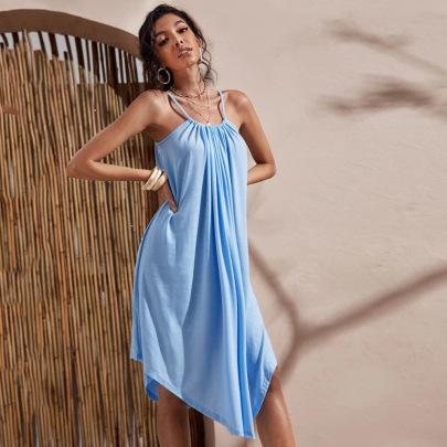 Loose Irregular Hem Mid-length Dress Wholesale Women Clothing Nihaostyles NSYSQ71493
