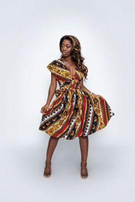Women's Digital Printing African Style High Waist Dress Nihaostyles Clothing Wholesale NSMDF71156
