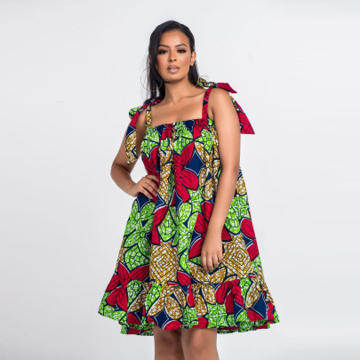 Women's African Style Ethnic Digital Printing Dress Nihaostyles Clothing Wholesale NSMDF71158