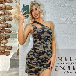Women's Camouflage Slim Dress Nihaostyles Clothing Wholesale NSXIA75365