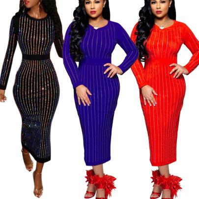 Multi-color Diamond Dress Nihaostyles Wholesale Clothing Vendor NSMDJ75040