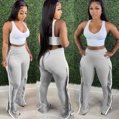 Multicolor Strip Long Pants Nihaostyles Wholesale Clothing Vendor NSMDJ75041