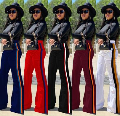 Multi-color Stitching Solid Color Pants Nihaostyles Wholesale Clothing Vendor NSMDJ75048