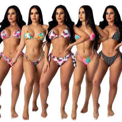 Multicolor Printed Bikini Swimsuit Set Nihaostyles Wholesale Clothing Vendor NSMDJ75071