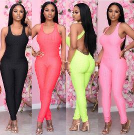 Multicolor Sling Jumpsuit Nihaostyles Wholesale Clothing Vendor NSMDJ75080