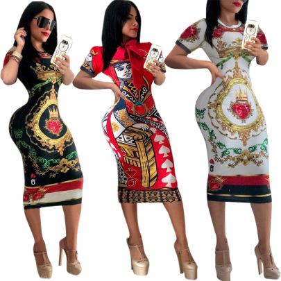 Poker Face Dress Nihaostyles Wholesale Clothing Vendor NSMDJ75097