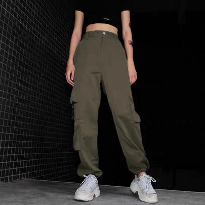Women's Multi-pocket Trousers Nihaostyles Clothing Wholesale NSXPF75113