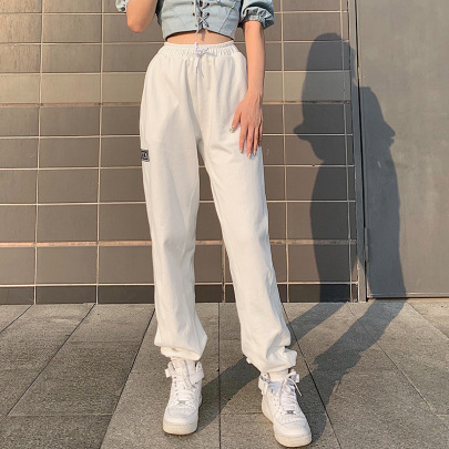 Pure Color High-waist Slimming Track Pants Nihaostyles Wholesale Clothing Vendor NSSSN75216