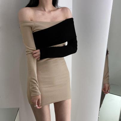 Women's Stitching Strapless Neckline Dress Nihaostyles Clothing Wholesale NSSSN75243