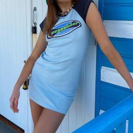 Women's  Raglan Sleeves Letter Print Dress Nihaostyles Clothing Wholesale NSSSN75251
