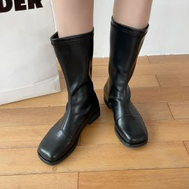 Fashion Solid Color Leather Boots Nihaostyles Wholesale Clothing Vendor NSCA75272