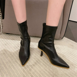 Pointed Toe Low Heel Stiletto Martin Boots Nihaostyles Wholesale Clothing Vendor NSCA75273