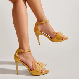 Bow Knot Stiletto Sandals Nihaostyles Wholesale Clothing Vendor NSCA75275