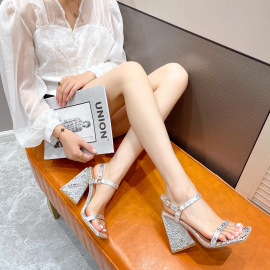 Strap Square Toe High-heeled Sandals Nihaostyles Wholesale Clothing Vendor NSCA75280