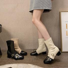 Square Toe Mid-heel Thin Elastic Boots Nihaostyles Wholesale Clothing Vendor NSCA75288