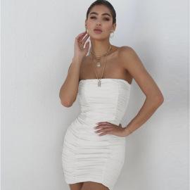 Women's Tube Top Dress Nihaostyles Clothing Wholesale NSXPF75301