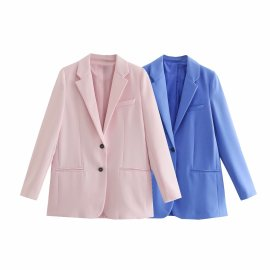 Long-sleeved Solid Color Loose Casual Blazer Nihaostyles Wholesale Clothing Vendor NSAM75417
