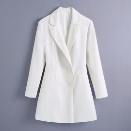 Double-breasted Blazer Nihaostyles Wholesale Clothing Vendor NSAM75445