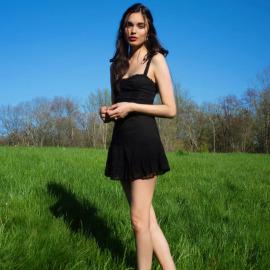 Black Ruffled Lace Sling Dress Nihaostyles Wholesale Clothing Vendor NSSSN75484