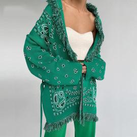 Fringe Strap Cardigan Sweater Nihaostyles Wholesale Clothing Vendor NSHML75508