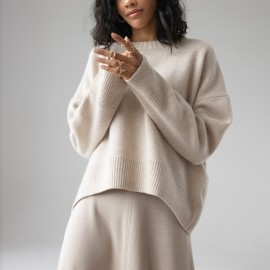 Pure Color Classic Knitted Casual Pullover Sweater Nihaostyles Wholesale Clothing Vendor NSHML75513