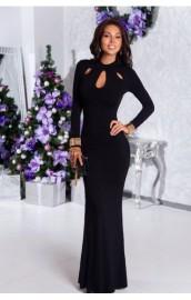 Long Black Mopping Dress Nihaostyles Wholesale Clothing Vendor NSHML75514