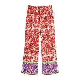 Retro Printed Pants Nihaostyles Wholesale Clothing Vendor NSAM75626