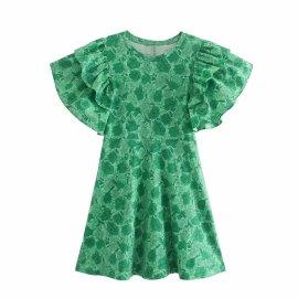 Laminated Decorative Printing Dress Nihaostyles Wholesale Clothing Vendor NSAM75627